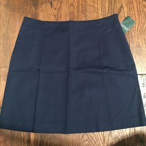 Lauren Ralph Lauren A line mini navy Pleated Skirt